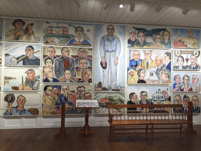"Alice Stallknecht's ""Every Man to His Trade"" murals at Atwood Museum"